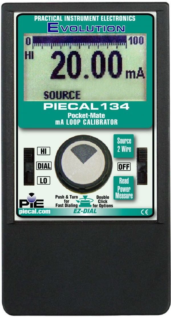 PIE 134 pocket sized milliamp loop calibrator
