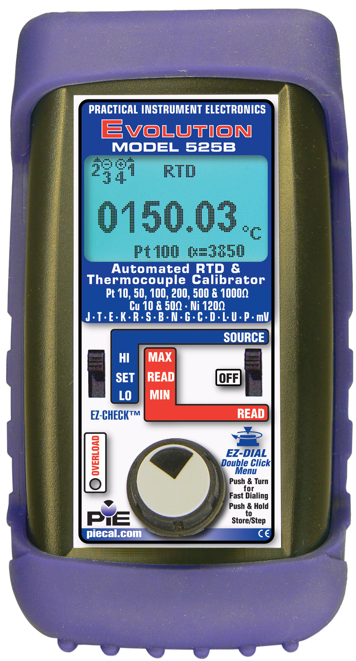 RTD & Thermocouple Calibrator PIE 525B | Advanced troubleshooting ...