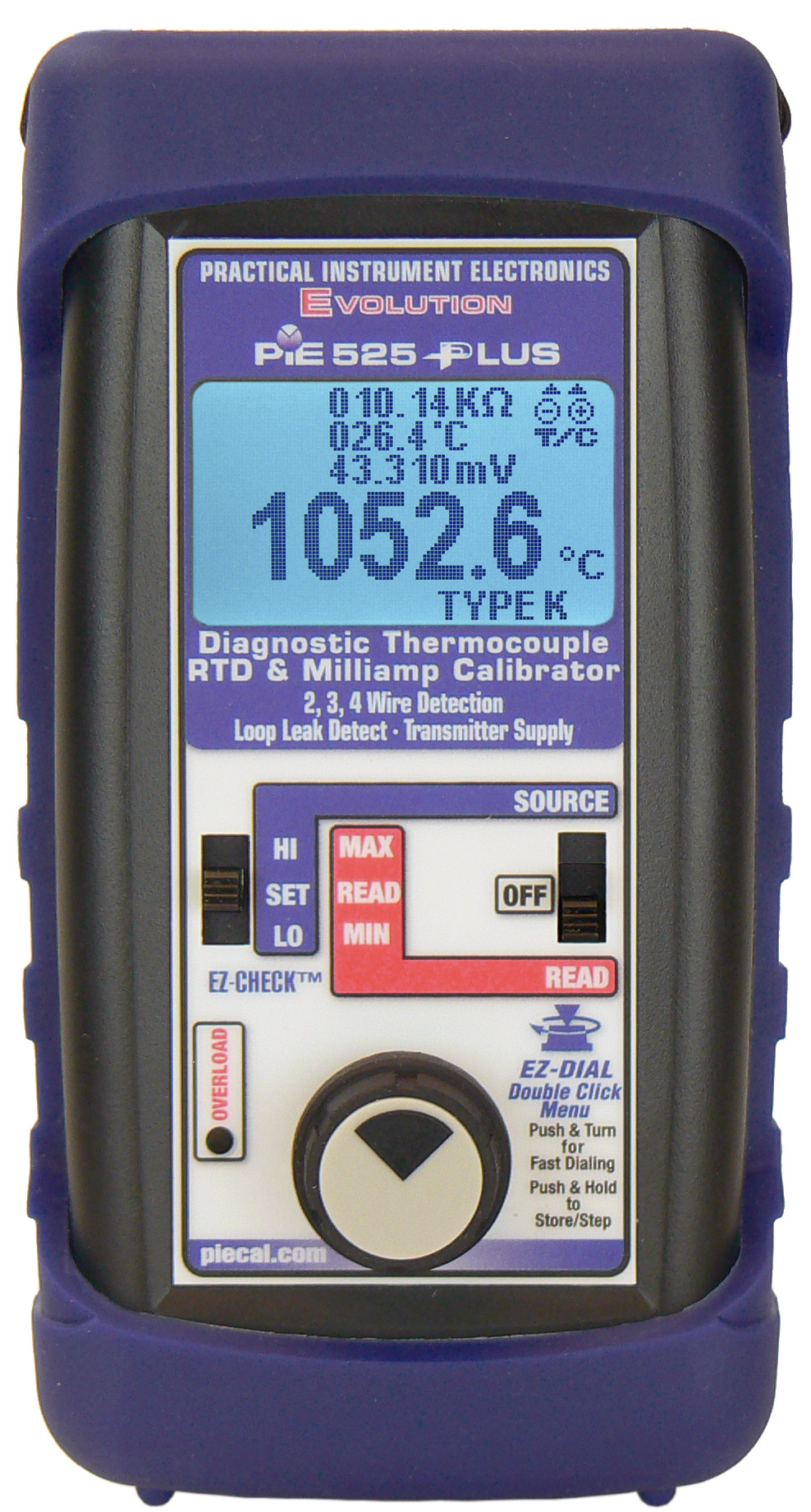 525Plus reading thermocouple & displaying high resistance probe