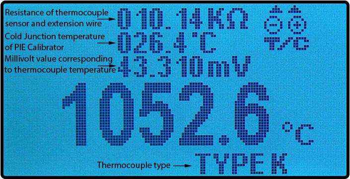 Thermocouple troubleshooting with PIE calibrators